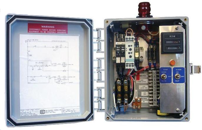 Time Dose Control Panel - Champion Pump Simplex Pump Wiring Diagram Power on